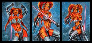 DARTH TALON PERSONAL SKETCH CARDS 10_2015 by AHochrein2010
