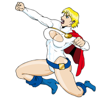 Power girl by Marvsamune