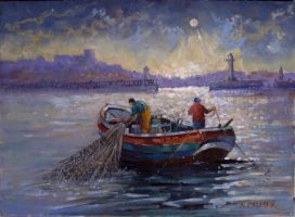 Fishing off whitby by SarahBircham