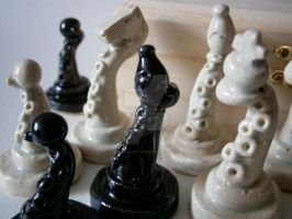Ceramic Tentacle Chess Set by ChristinaRoth333