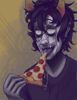 Greasy pizza clogs your arteries by Kaciel