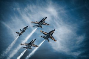 Blue Angels Star Burst by CharlesWb