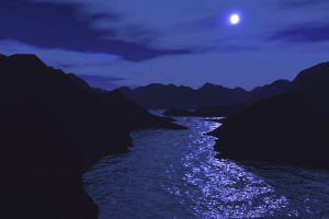 River at night by TouyaSquall