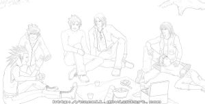 KH: Family Picnic :lineart: by cacell