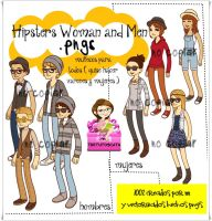 Hipster Woman and Men .PNG by Thetutoscata