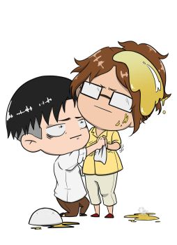 Levi and Hange by FeatheredGoat