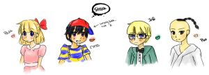 Earthbound Sketches by Millenium-Lint