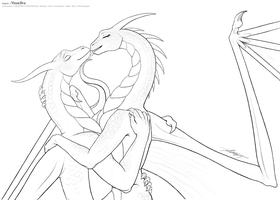 Draffection - lineart by VixenDra