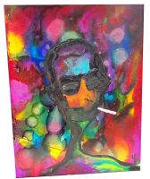 Hunter S Thompson Pop Art Painting by bRiANmoSsARt