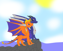 New life as dragon by MegamanDragonoid