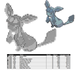 Glaceon Cross Stitch Pattern by AgentLiri