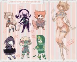 Cute Monster Adoptables ::CLOSED TO SET PRICES:: by jellyflavoured