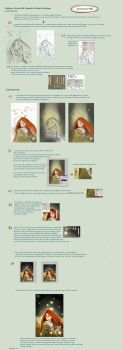 Painting a Cartoon girl step by step by eydii