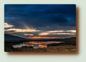 Sunset in Connemara by Haiburidd0