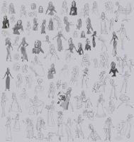old disney sketches - large by Precia-T