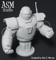 Iron Monger Mini Bust 02 by ASM-studio