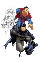 sup,bat and ww trio collab by shalomone