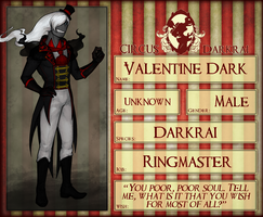 Circus Darkrai : NPC : Valentine Dark by VoxRobotics