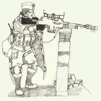 Sniper Sehra Muril inked by blooddragon62