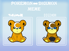 PokemonDigimon meme by Beckie6