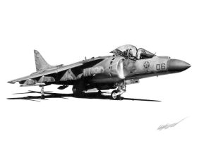 AV-8B Harrier II by Sketchh22