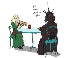 Lunch with Eowyn by violetsarered