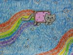nyan cat. by ingart15
