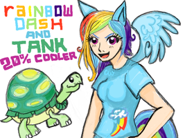 Rainbow Dash and Tank by Chibikyo7