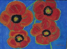 painting with poppies from Ingeline 3 by ingeline-art