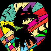 stain glass cat by Scurrow