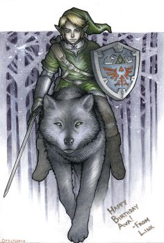 Link and Wolf Commission by theopticnerve