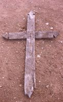 wooden cross by Stockudith