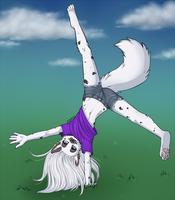 Crazy Cartwheels by AjnaArt