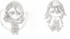 Rukia and BYakuya Adoptables PREVIEW! by PeachBerryDivision