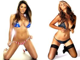 Lucy Pinder and Leeann Tweeden by ShepardSoldier