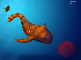 Cat Whale by EvilBeanz13