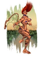 Tigra villains watch it by selkirk _COLORS_ by carol-colors