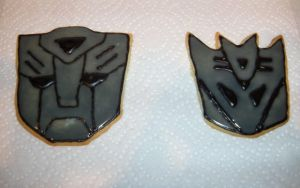 Transformers Sugar Cookies by Stephanefalies