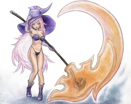 Candy Witch and Her Lollipop Scythe by SquirrelHsieh