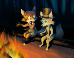 Campfire kids by Pedantia