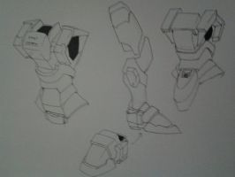 arx7 Arbalest concept - [Body back and lower body] by kamikurosuHibari