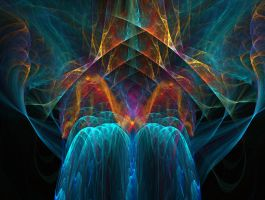 Waterfall Rainbow Fractal by trashydragon