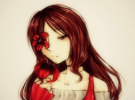 ::BLOODRED LILYS ARE PRETTY,YES...:: = 3 = by Emiko-suu