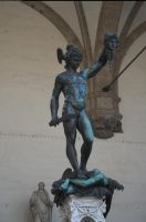 Perseus with Medusa's head by enframed