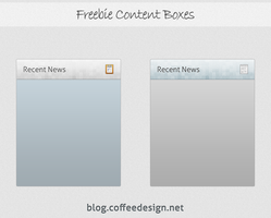 Free PSD content Boxes by ahsanpervaiz