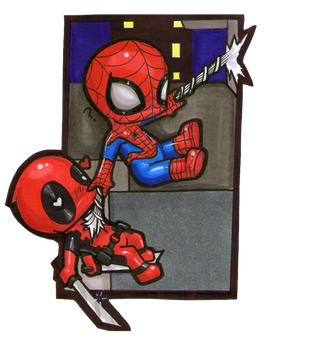 Spideypool? by Teddy-Steve