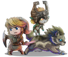 Zelda TP Chibis by Zhiibe