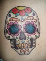 Sugar Skull sharpie tattoo by originalclosetnerd