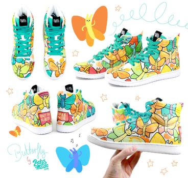Butterfly Sneakers by Bobsmade