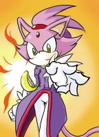 Blaze the cat with a saber by rhide